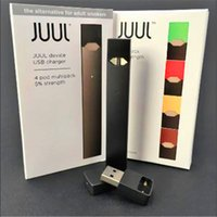 Wholesale 2019 Best Quality New Arrival JUUL pen Kit new package mango With Pods USB Charger Portable vape pen juul starter kit DHL