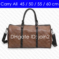Wholesale carry luggage resale online - CARRY ON ALL BANDOULIERE cm Designer Womens Mens Travel Duffle Duffel Bag Luxury Rolling Softsided Luggage Set Suitcase M41414