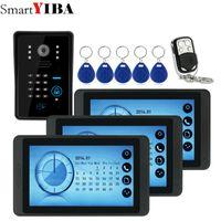 portes de système de sécurité achat en gros de-SmartYIBA 7inch Enregistrement Vidéo / Photographie Vidéo Porte Téléphone Sonnette Étanche HD RFID Caméra Sécurité Interphone Système de Sécurité 1V3
