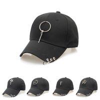 korece hip hop tarzı şapkalar toptan satış-BONJEAN Kore Tarzı kış sonbahar siyah beyaz çember kap Harajuku 22 stilleri kavisli saçak beyzbol şapkası hip-hop şapka kadın güneş şapka