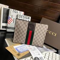 Wholesale briefcase clutch resale online - Fashion Classic Multi funcito handbags Men Clutch Wallet Famous Brand Mens Clutch Handbag With Belt Large Envelope Bag Briefcase Handbag
