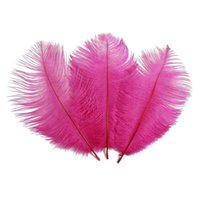 Wholesale pink wedding table decor for sale - Group buy cariel pc inch Hot pink Ostrich Feather Plumes for Wedding centerpiece christmas feather decor wedding table decor party decor z134b
