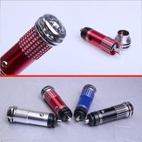 spray 12v venda por atacado-Mini purificador de ar de íon negativo no veículoMini purificador de ar Novo 12 V Auto Car Fresh Air Purifier Ionic Bar de oxigênio Ozônio Ionizador Cleaner 001