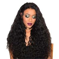 pelo largo perruque natural al por mayor-Hot Afro Kinky Curly Perruques sintético sintético Resistente al calor Natural Negro Simulación Larga Pelucas de Cabello Humano Para Mujeres Negras