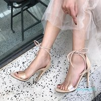 Wholesale sexy leather foot resale online - Hot2019 Sandals Year Fine Exceed Fiber Leather Crossing Foot Ring Bandage Sexy