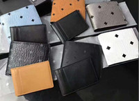большие кошельки для мужчин оптовых-Классический мода Корея высокое качество M мужская и женская большой емкости бумажник печатных кожаный бумажник