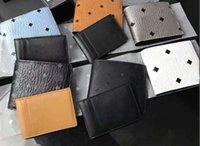 carteira impressa homens venda por atacado-Moda clássica Coreia alta qualidade M homens e mulheres de grande capacidade carteira carteira de couro impressa