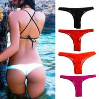dc6351cb3b6 2019 Sexy women Bikini Bottoms Swimming G-String Briefs Panty Bikini Thong  Bottom Swimsuit Brazilian Thong maillot de bain femme