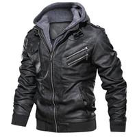 militär motorrad jacken männer groihandel-Oblique Reißverschluss Motorrad-Lederjacke-Mann-Marken Militär Herbst Männer PU-Leder-Jacken-Mantel-Größe S-3XL