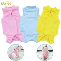 Wholesale e collar dogs for sale - Group buy Cat Dog Treatment Vest T shirt Cat Clothes Cotton Recovery Suit E Collar Alternative After Surgery Wear Anti Pet Licking Wounds