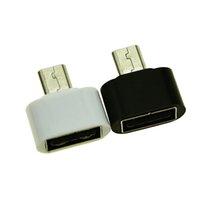 ячейка v8 оптовых-Micro USB к USB 2.0 OTG Адаптер расширения Металлический корпус для сотового телефона Интерфейс V8 Для большинства 5-контактных Micro USB смартфонов