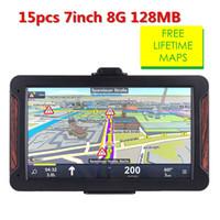 Wholesale car gps online - 15pcs Oriana inch HD Car GPS Navigation FM G MB latest Resiative Truck gps navigators