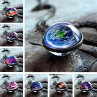 neue halskette großhandel-Neue mode halskette doppelseitige glas halskette sphärische halsketten stern muster halsketten kosmische muster halskette t6c6015