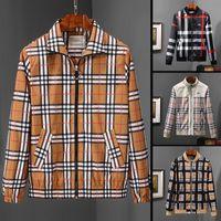 chaqueta de contraste masculino al por mayor-Gasoda Nuevo diseñador de moda para hombre chaquetas sueltas con cremallera ropa masculina algodón de alta calidad para hombre chaquetas de lujo outwear tamaño M-3XL