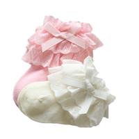 Wholesale princess socks for girls resale online - Baby Girls Socks Newborn Cotton Lace Baby Socks for Girls Infant Solid Princess Style Clothes Accessories