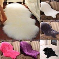 ingrosso coperture di sedia blu-Tappeto in lana di vitello a 5 colori coprisedile Tappeto caldo in moquette pelosa Tappeto in tinta unita