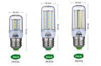 evde kapalı toptan satış-E27 E14 LED Ampul SMD5730 220 V Mısır Ampul 24 36 48 56 69 72 LEDs Avize Mum Ev Dekorasyon Ampul Için LED Işık