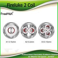 freemaks yedek bobin toptan satış-Orijinal Freemax Fireluke 2 Bobin Başkanı X1 X2 Çift X3 Twister 80 W Için Üçlü 0.12ohm 0.2ohm Mesh Yedek Çekirdek 80 W Kiti 100% Otantik
