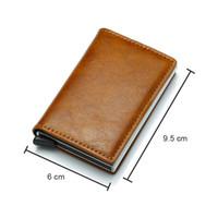 monedero de aluminio monedero al por mayor-Nuevo monedero anti de los hombres bolsa de dinero delgado mini monedero de aluminio masculino titular de la tarjeta rfid billetera delgada pequeña billetera inteligente walet portfel