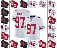 camiseta de fútbol 85 al por mayor-San Francisco49ers para hombre 97 Nick Bosa 85 George Kittle 10 Jimmy Garoppolo 80 Jerry Rice Mujeres JóvenesNFL Jersey Fútbol