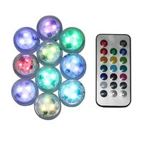 Wholesale battery operated submersible led lights resale online - IP68 Waterproof Battery Operated Multi Color Submersible LED Underwater Light for Fish Tank Pond Swimming Pool Wedding Party