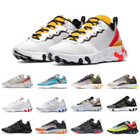 Wholesale tan tape for sale - Group buy Tour Yellow React Element Volt mens Running Shoes For Women men Game Royal Taped Seams s Trainer s Sail Sports Sneakers