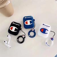 silikon-gummi-beutel groihandel-Fall für Apple Air Pod Fall Modedesigner Air Wireless Fall Bluetooth Kopfhörer Staubschutz Stoßstange Soft Rubber Silikon Anti-verlorene Tasche