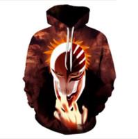 смешные hoodies освобождают перевозку груза оптовых-Новые моды для женщин / мужчин атака на Titan Funny 3D печатных повседневная карманные толстовки толстовка топ Бесплатная доставка RW0181
