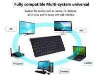 kablosuz fare klavye 2.4g ayarla toptan satış-2.4G Klavye Mouse Combo Set Multimedya Kablosuz Klavye ve Fare Dizüstü Dizüstü Mac Masaüstü PC TV Ofis Malzemeleri Için