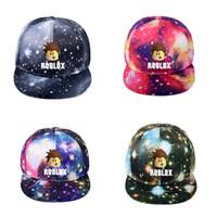erkek parti şapkaları toptan satış-Çocuklar Trendy Yaz Sıcak Oyunu Caps Roblox Baskılı Kap Unisex Rahat Şapkalar Erkek Kız Şapka çocuk Partiler Oyuncak Şapkalar Doğum Günü Hediyesi