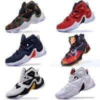 best service c4803 e3272 Lebron 13 chaussures chaussures d extérieur pour hommes à vendre MVP Noël  BHM bleu Pâques Halloween baskets jeunesse Akronite DB taille 7 12