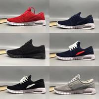 stefan janoski max chaussures achat en gros de-2018 SB Stefan Janoski Chaussures Hommes Femmes Chaussures De Course maxes Haute Qualité Sport Athlétique Hommes Formateurs Air Designer Baskets Taille 36-45