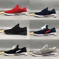 Wholesale janoski rubber shoes resale online - 2018 SB Stefan Janoski Shoes Men Women Running Shoes maxes High Quality Athletic Sports Mens Trainers air Designer Sneakers Size