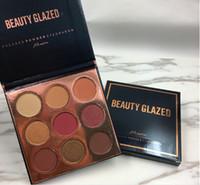 Wholesale wholesale beauty for sale - 2019 New Beauty Glazed burgundy flossy pressed powder eyeshadow color palette Burgundy Bronze Brand Makeup VS beauty