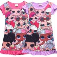 prinzessinnen nachthemd großhandel-Kinder Nachtwäsche 2019 Sommerkleider Mädchen Pyjamas Nette Prinzessin Nachthemd Kinder Nachthemd Mädchen Nachtwäsche Baby Mädchen Kleidung