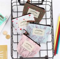 toile vent frais du jardin porte-monnaie Partysu changement  porte-organisateur coloré petit portefeuille clé de monnaie de poche  portefeuilles sac à ...