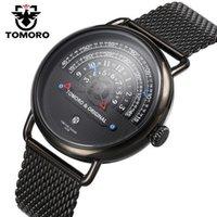 conceptos de lujo relojes al por mayor-TOMORO Diseño original de gama alta para hombre reloj de cuarzo nuevo concepto creativo gran dial moda negocio negocios reloj de lujo