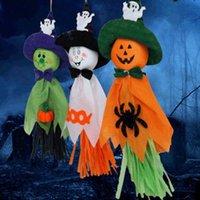 cadılar bayram dekorasyonları açık havada toptan satış-Moda Cadılar Bayramı Hayalet Asma Dekorasyon / Kapalı Açık Spectre Parti Süsleme Programı Karikatür Şekil Paskalya Cadılar Bayramı Kağıt
