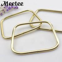 Wholesale bag handle parts for sale - Group buy Light Gold Fashion Metal Frame Handbag Bag Handles Clutch Bag Accessories Parts DIY Leather Crafts