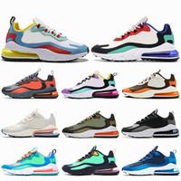zapatos de golf para mujeres al por mayor-nike air max 270 react El aire de la nueva llegada reacciona a los hombres con zapatillas deportivas de alta calidad para hombre de triple moda, zapatillas deportivas