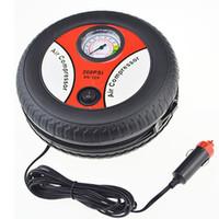 Wholesale mini compressor pump resale online - Car Air Pump PSI DC V Portable Electric Mini Tire Inflator Air Compressor Car Auto Pump W