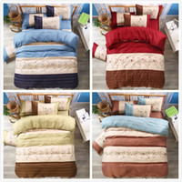 Wholesale foreign bedding online - AliExpress Amazon Cross border Hot Sale Active Three pieces Suit New Simple Wind Foreign Trade Size Bedding Bedding Set Luxury
