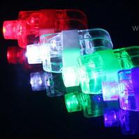 láseres brillantes al por mayor-Dedo de Iluminación láser de juguete dedo brilla haz dedo anular de juguete de iluminación láser 4 colores Guantes flash LED brilla en color luz luminosa