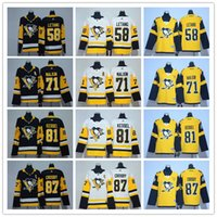 nhl jerseys envío al por mayor-2020 Stanley Cup Pittsburgh Penguins de marca jerseys del hockey de 7 Jack Johnson 58 Kris Letang 71 Evgeni Malkin 81 Phil Kessel 87 Sidney Crosby