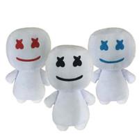 ingrosso regali elettronici dei giocattoli-25CM New syllable cotton candy DJ headset marshmello peluche bambola regalo di Halloween 3 colori per bambini giocattoli