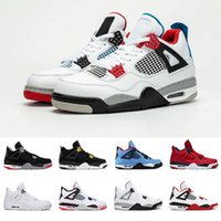 Wholesale mens wing resale online - 4 s mens basketball shoes what the bred Cool Grey PALE CITRON PURE MONEY OREO white cement ALTERNATE Wings fashion men sports sneakers