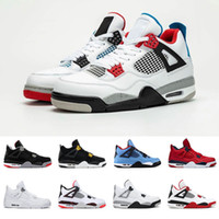 ingrosso scarpe sportive-4 4s scarpe da pallacanestro da uomo ciò che è stato allevato Cool Grey PALE CITRON DENARO PURO OREO cemento bianco ALTERNATE Ali moda uomo sneakers sportive