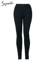 88c72638 Wholesale jeans dropshipping for sale - Black high waist skinny jeans woman  stretch pencil pants denim
