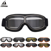 Wholesale green motorbike helmets resale online - FDBRO Windshield Snowboard Goggles Goggles Pilot Motorbike Scooter Biker Glasses Helmet Foldable for Ski