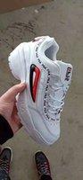 zapatillas de deporte blancas usb al por mayor-8Zapatillas FILA FL06 I 2 Zapatillas de deporte para mujer Zapatillas de deporte Blanco Rosa Verano Aumento de la zapatilla de deporte para exteriores Tallas grandes 36-44
